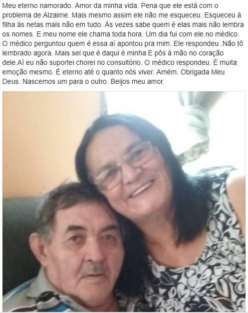 Ele tem 73 anos, Alzheimer e esqueceu o nome de todos, menos da amada 3