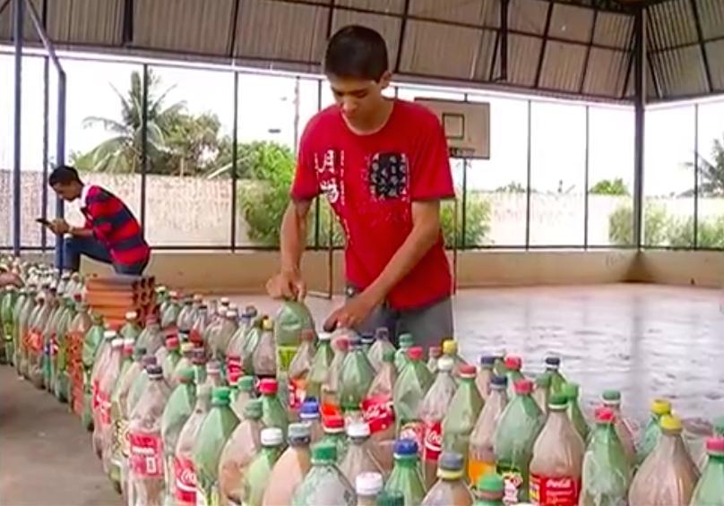 Usando 8 mil garrafas PET, alunos constroem arquibancada em escola pública do Tocantins 3