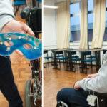 cadeira de rodas movimento dos olhos