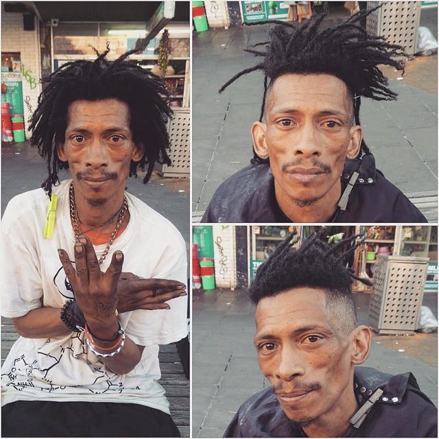 Barbeiro passa o único dia de folga cortando cabelo de moradores de rua 12