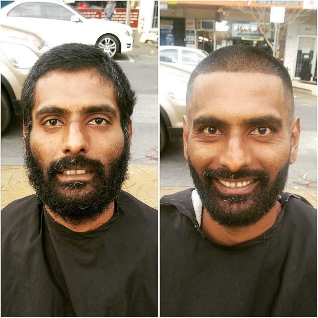 Barbeiro passa o único dia de folga cortando cabelo de moradores de rua 13