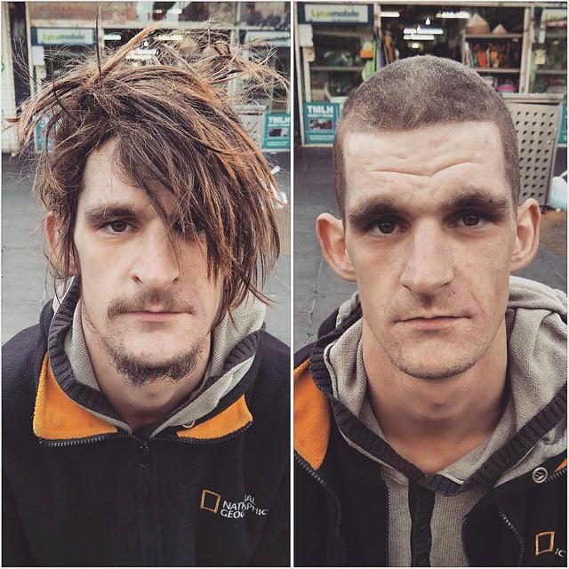 Barbeiro passa o único dia de folga cortando cabelo de moradores de rua 6