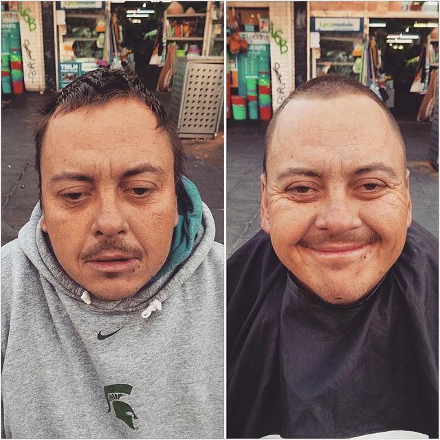 Barbeiro passa o único dia de folga cortando cabelo de moradores de rua 9