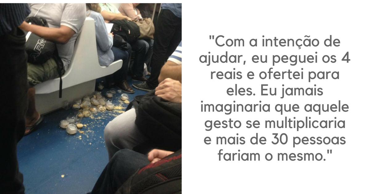 Jovens derrubam empadas no trem do Rio e passageiros se mobilizam para eles não ficarem no prejuízo 1