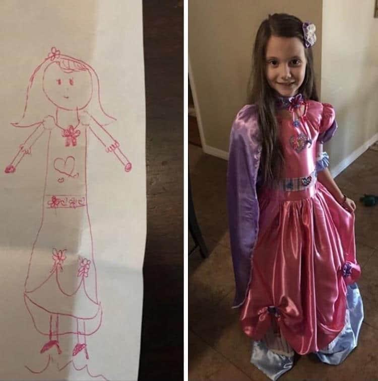 Avó faz vestido dos sonhos para sua neta 1