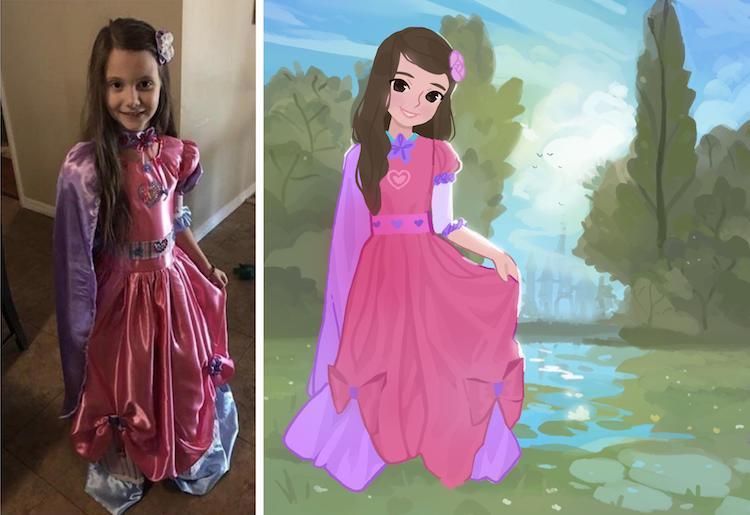 Avó faz vestido dos sonhos para sua neta 2