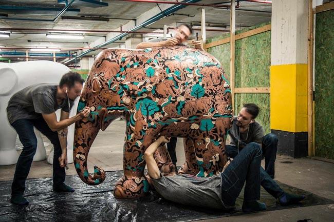 Elephant Parade em São Paulo envolve arte e conscientização para preservar elefantes 4
