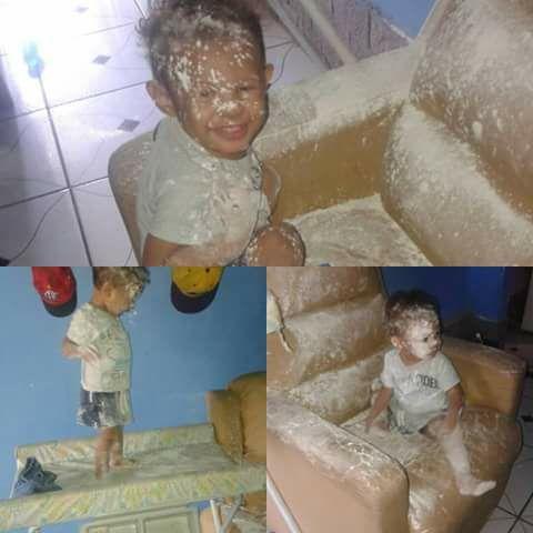 """Fotos hilárias mostram o que acontece quando você deixa uma criança sozinha por """"1 segundo"""" 5"""