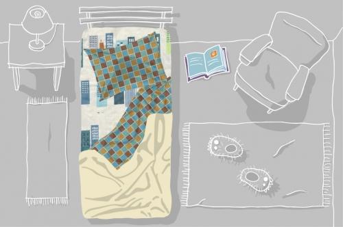 Lençóis para crianças contam histórias infantis para ajudá-las a dormir 6