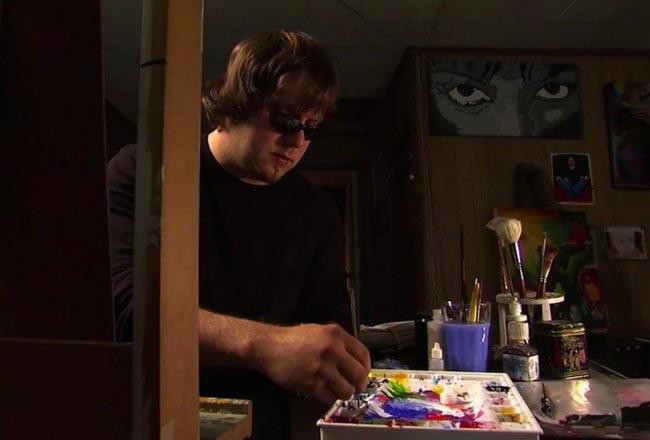 Artista cego surpreende com suas telas coloridas e diz que a arte o salvou 2