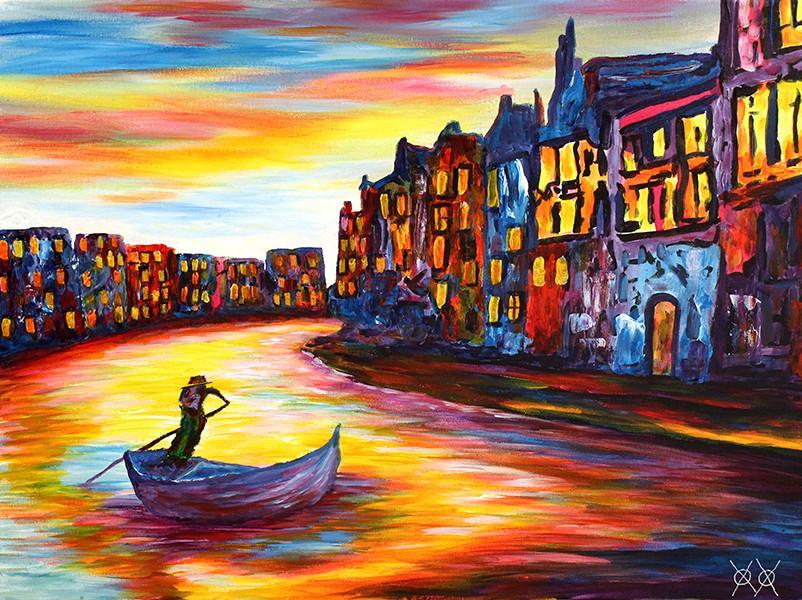 Artista cego surpreende com suas telas coloridas e diz que a arte o salvou 1