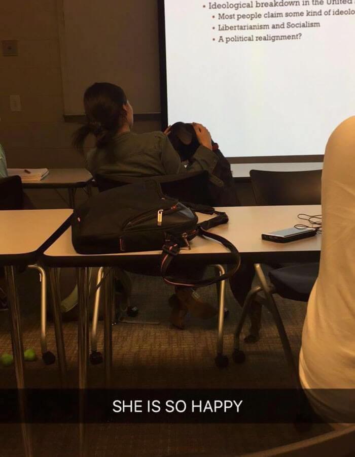 Aluna pede pra levar sua cachorra para a escola e recebe a melhor resposta do professor 8