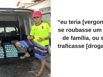 Vendedor de ovos viraliza nas redes sociais após 'mina' zombar do trabalho dele 3