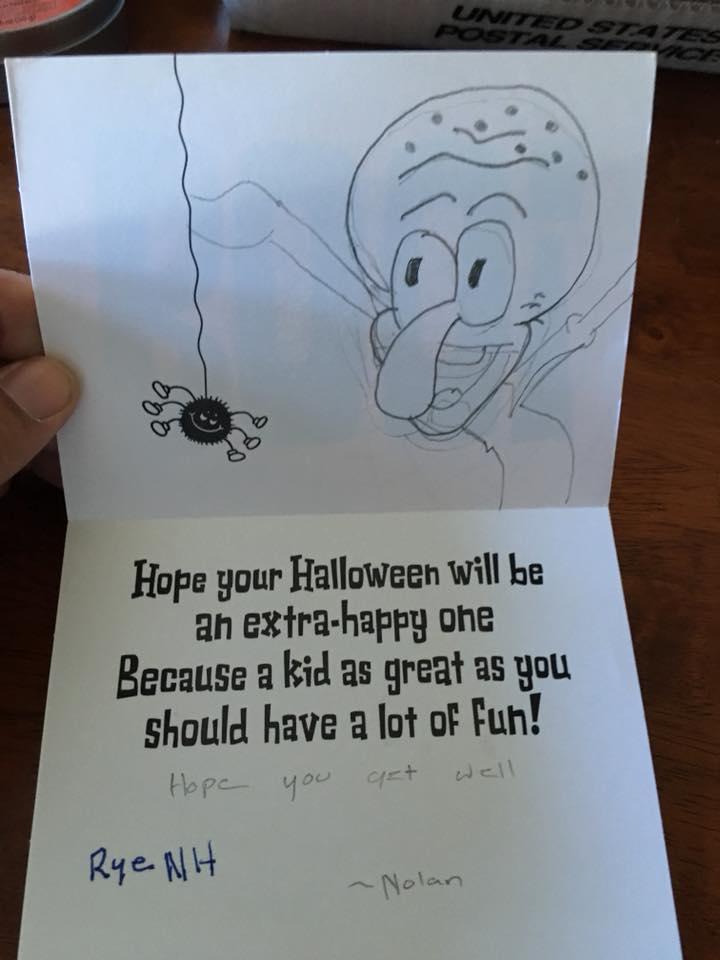 Menino de 7 anos com câncer raro recebe 1.000 cartões de pessoas do mundo todo 3