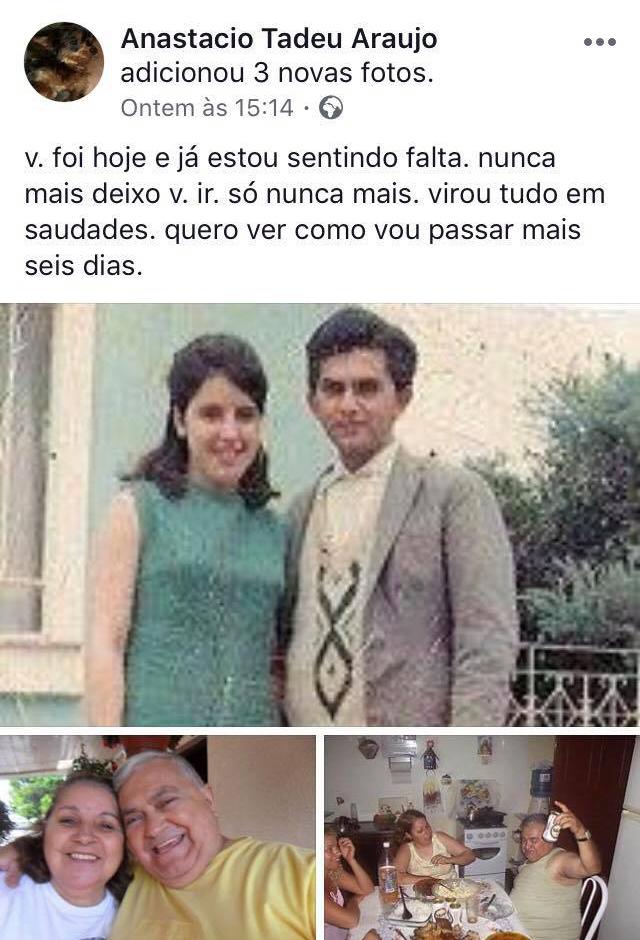 Vovô desabafa saudade da esposa em posts de puro dengo e amor no Facebook 1