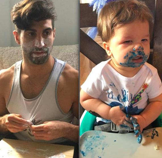 Bebê faz sucesso imitando poses do tio modelo e viraliza na internet 2