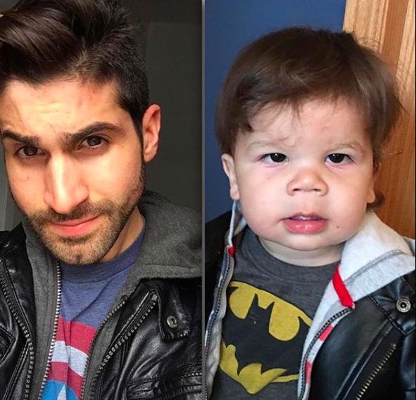 Bebê faz sucesso imitando poses do tio modelo e viraliza na internet 6