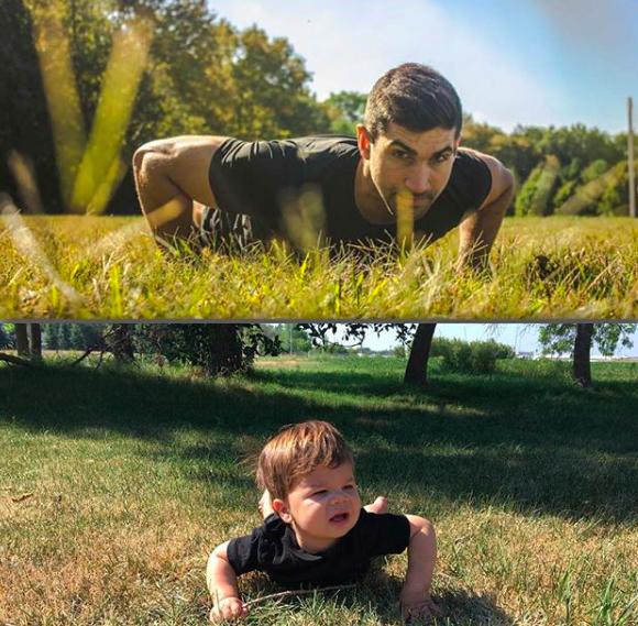 Bebê faz sucesso imitando poses do tio modelo e viraliza na internet 11