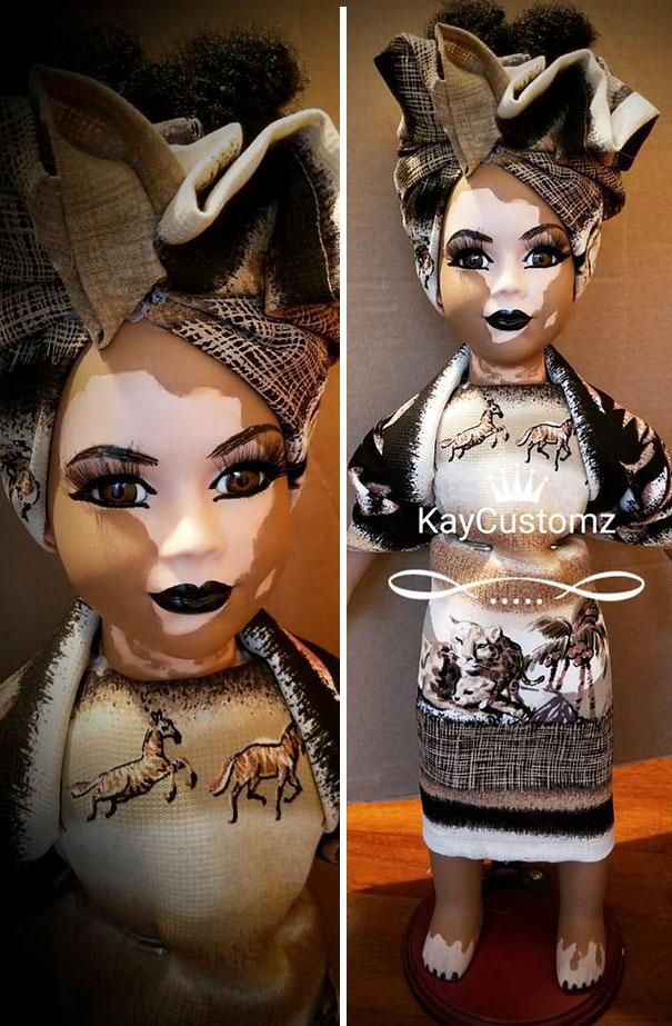 Artista cria bonecas com vitiligo para promover a autoaceitação das crianças com a doença 5