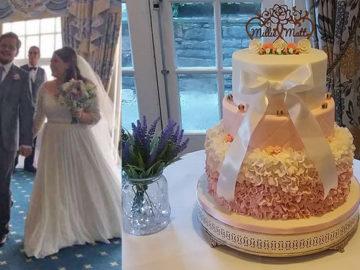 Desconhecida leva horas para consertar bolo de casamento destruído a tempo do grande dia 5