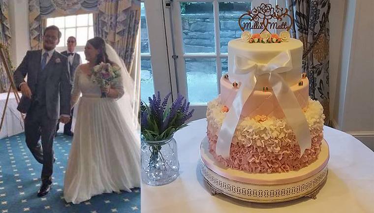 Desconhecida leva horas para consertar bolo de casamento destruído a tempo do grande dia 1