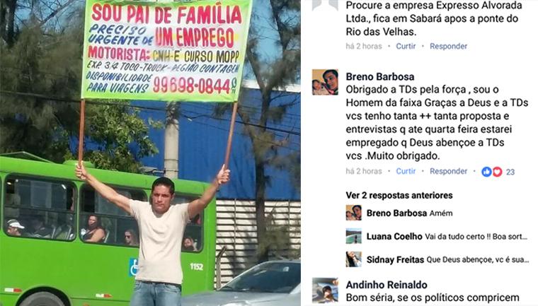 Após mobilização de internautas, pai desesperado recebe dezenas de propostas de emprego 1