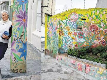 Moradora devolve vida a bairro com sua arte em Jundiaí-SP 1