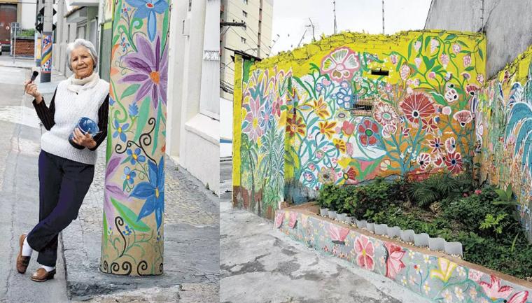 Moradora devolve vida a bairro com sua arte em Jundiaí-SP 5