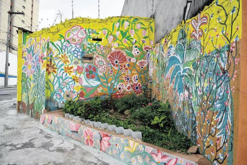 Moradora devolve vida a bairro com sua arte em Jundiaí-SP 2