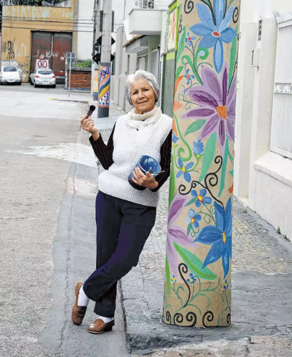 Moradora devolve vida a bairro com sua arte em Jundiaí-SP 4