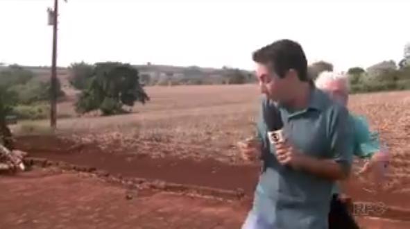 Senhorzinho dá baita susto em repórter durante reportagem sobre onça no Paraná 5
