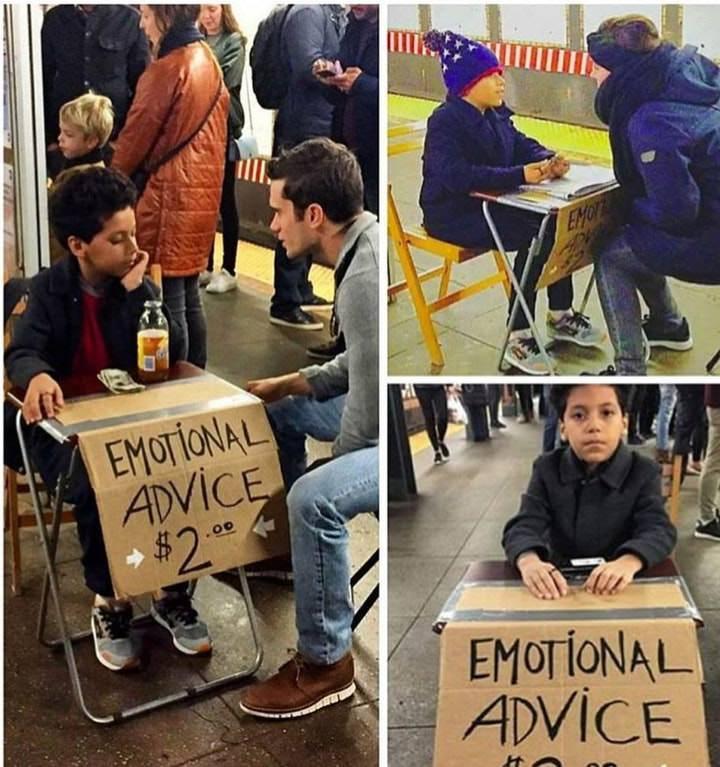 Menino de 11 anos vende conselhos no metrô de Nova York por 2 dólares 3