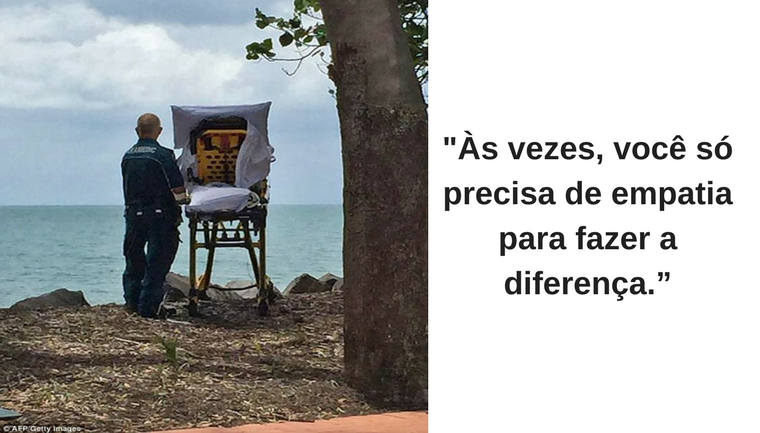 Paramédicos desviam rota da ambulância para realizar último desejo de mulher: ver o mar 3
