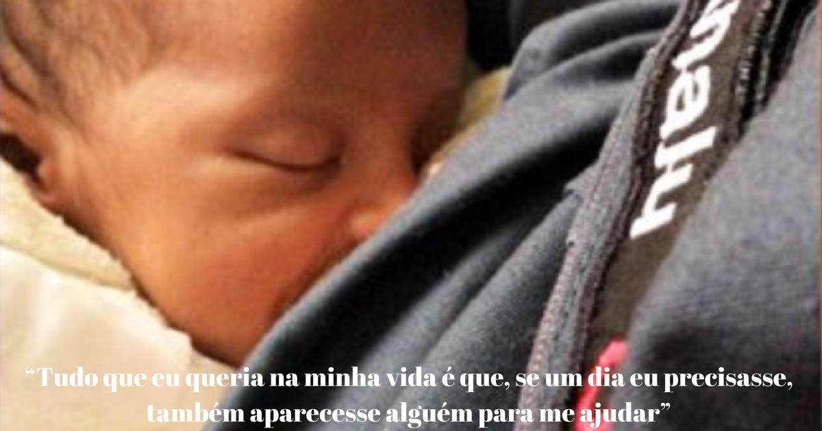 PM amamenta filho recém-nascido de mulher que foi em busca de ajuda 1
