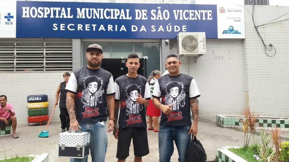 Mãos de Tesoura: voluntários cortam cabelo de pacientes de hospital em São Vicente (SP) 4