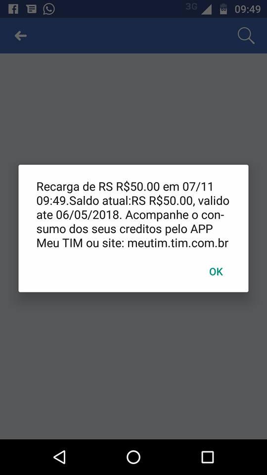 Ele errou o número na hora de colocar 50 reais de crédito no celular, mas recebeu grata surpresa 6