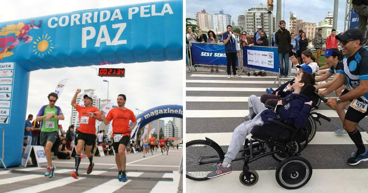 Inclusão no esporte: deficientes visuais, intelectuais e cadeirantes participam da Meia Maratona Internacional de Florianópolis 2