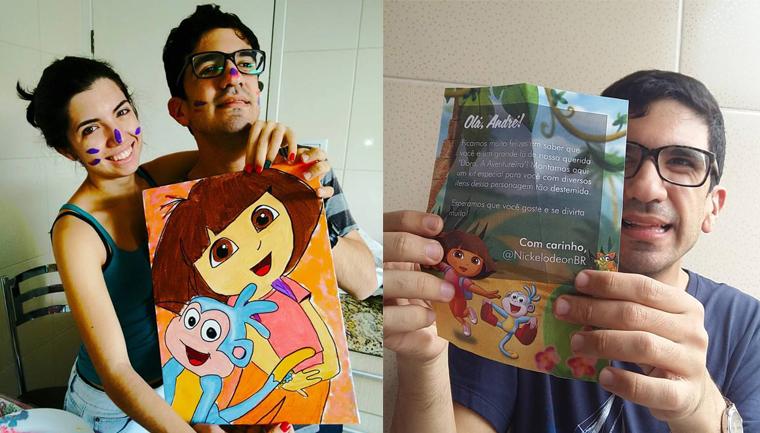 Após relato de irmã, autista ganha sacola de produtos da 'Dora, a Aventureira' 1