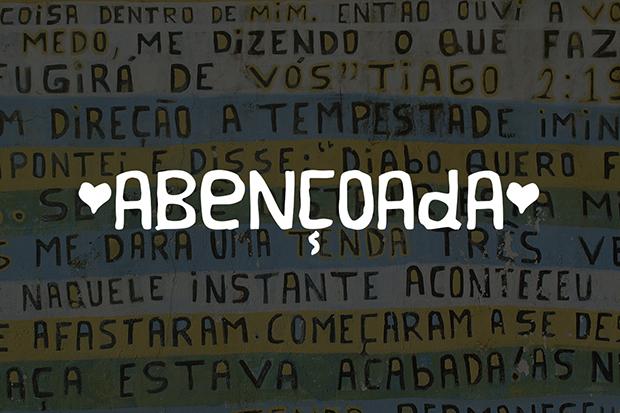Projeto Pintores de Letras lança fonte 'Abençoada' para ajudar a realizar sonho de artista em Içara (SC) 2