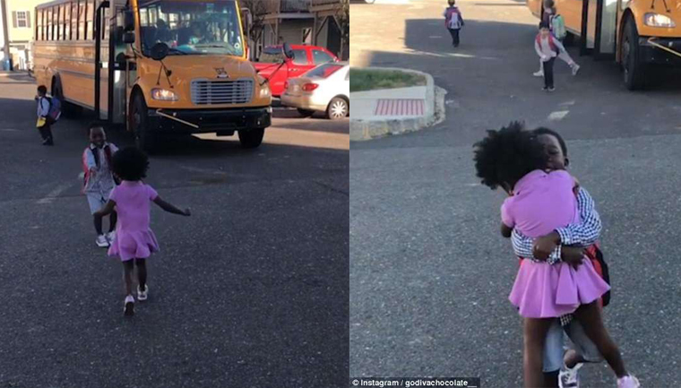 Vídeo de menina correndo para abraçar o irmão todos os dias depois da escola é a coisa mais fofa que você vai ver hoje 1