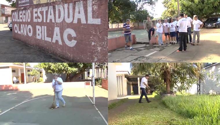 Após 40 anos, ex-alunos se reencontram para fazer mutirão no colégio onde estudaram em Goiânia 1