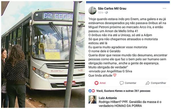 Motorista de ônibus prolonga trajeto para estudantes chegarem a tempo para o Enem 2