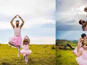 Metalúrgico faz ensaio vestido de bailarina para aniversário da filha em SP 1