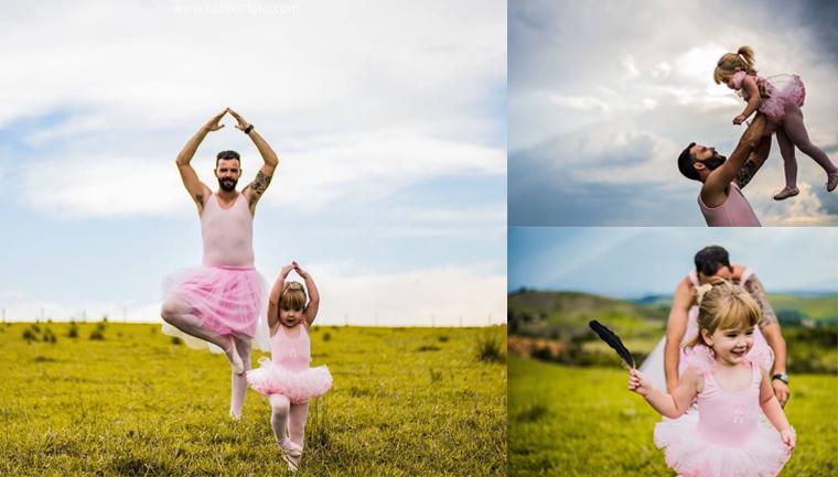 Metalúrgico faz ensaio vestido de bailarina para aniversário da filha em SP 2