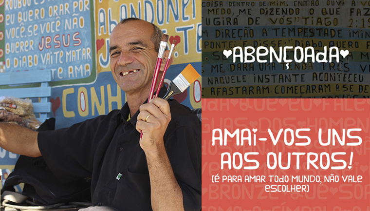 Projeto Pintores de Letras lança fonte 'Abençoada' para ajudar a realizar sonho de artista em Içara (SC) 1