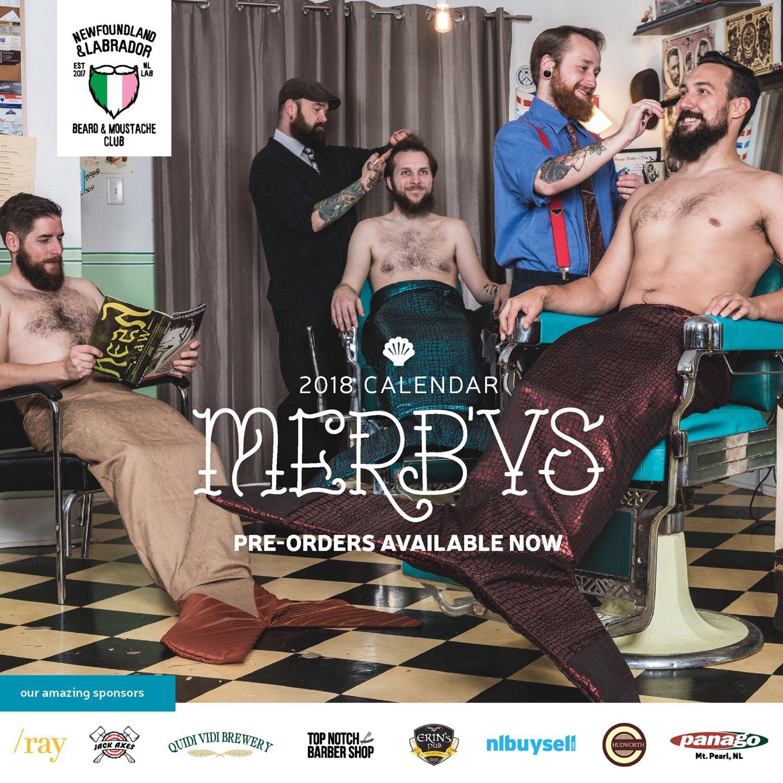 Homens barbudos posam para calendário de sereias pra apoiar organização sem fins lucrativos 3