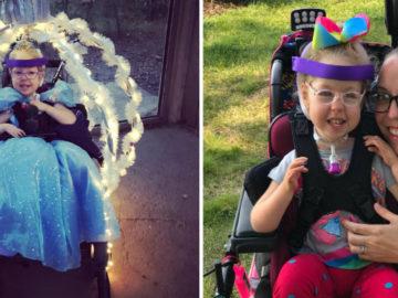 Americana transforma cadeira de rodas da filha em carruagem da Cinderela 4