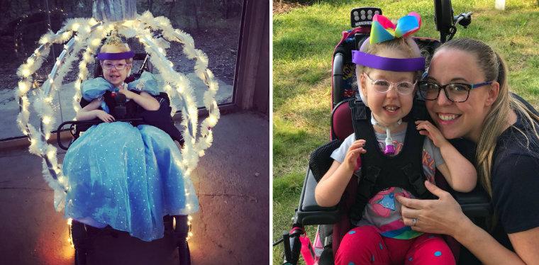 Americana transforma cadeira de rodas da filha em carruagem da Cinderela 1