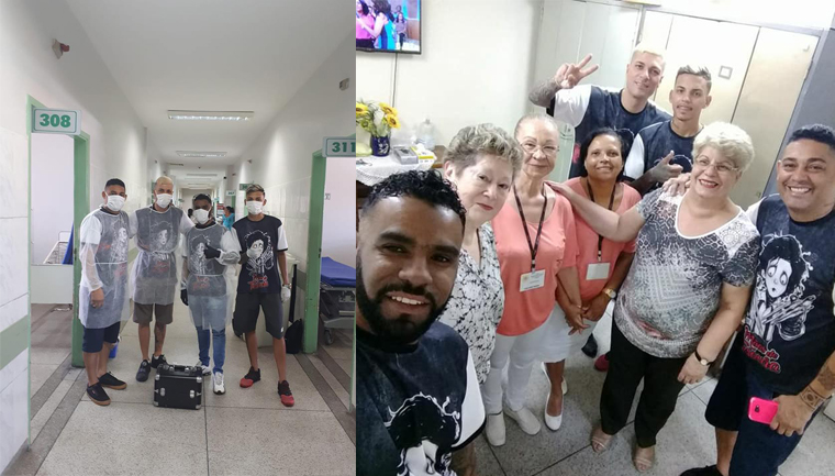 Mãos de Tesoura: voluntários cortam cabelo de pacientes de hospital em São Vicente (SP) 1
