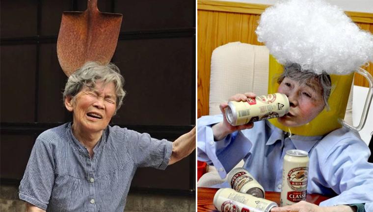 Essa vovó japonesa de 89 anos adora se fotografar em situações hilárias 9